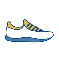 Sport shoe icon vector