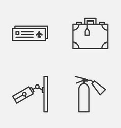 Travel icons set collection of airport card vector
