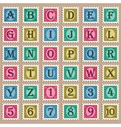 Vintage Alphabet Stamps vector