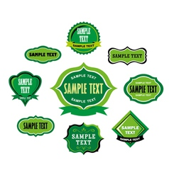 Vintage Green Label Tags vector image vector image