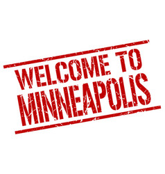 Welcome to minneapolis stamp vector