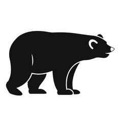 Wild bear icon simple style vector