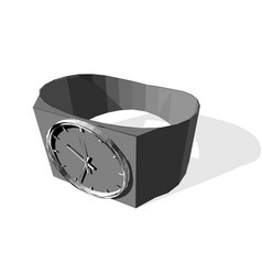 wrist watch vector image