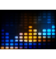 Abstract glowing tech background vector image vector image