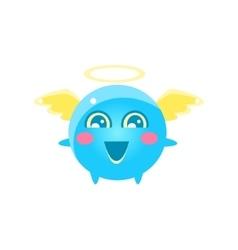 Angel Round Character Emoji vector image vector image