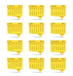 Calendar 2013 Origami Style vector image vector image