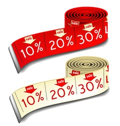 Sale measures vector image