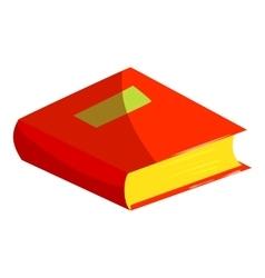 School textbook icon cartoon style vector image vector image