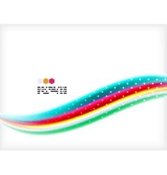Smooth colorful business elegant wave design vector image vector image