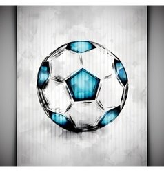 Soccer ball watercolor vector image vector image