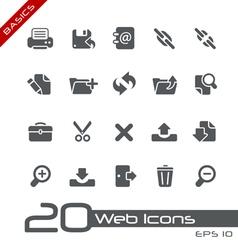 Web interface basics series vector