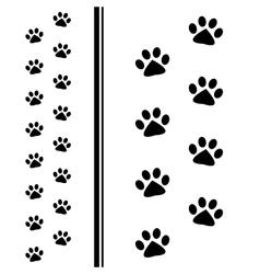 Animal paw prints vector