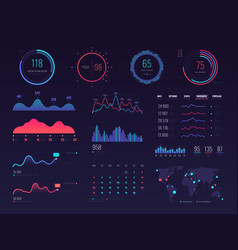 intelligent technology hud interface vector image vector image