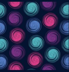 polka dot seamless pattern with abstract circles vector image