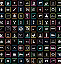 100 war icons vector image