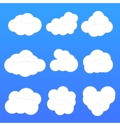 Clouds collection isolated vector image vector image