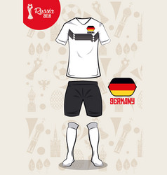 football sport wear russia 2018 vector image vector image
