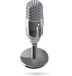 Isometric icon of microphone vector image vector image