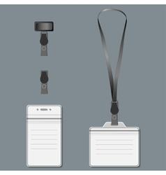 Lanyard Retractor end badge EPS10 vector image