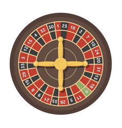 roulette with red and black cells the most vector image