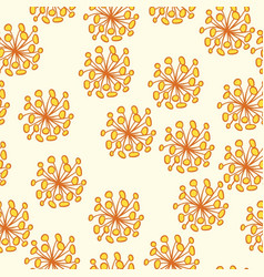 seamless yellow flower pattern vector image vector image