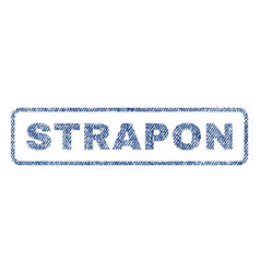 Strapon textile stamp vector