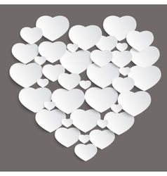 valentine day background with hearts vector image vector image