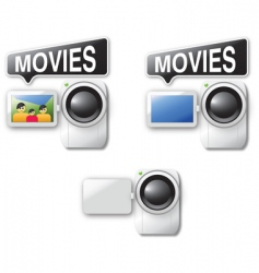 video cameras vector image
