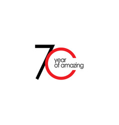 70 year amazing template design vector