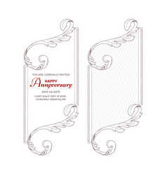 a set of two vertical frames in victorian style vector image