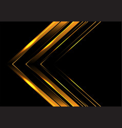 Abstract gold arrow direction on black luxury vector