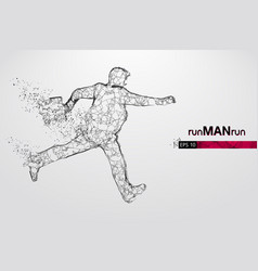 abstract silhouette a running businessman man vector image
