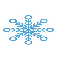 abstract snowflake icon isometric style vector image