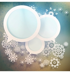 Abstract winter design with snowflakes EPS 10 vector image