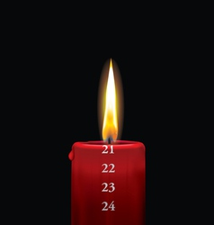 Advent candle red 21 vector