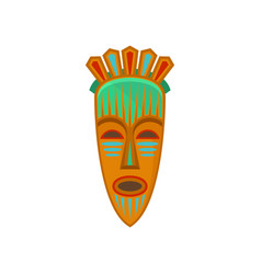 african tribal mask with ethnic ornament vector image