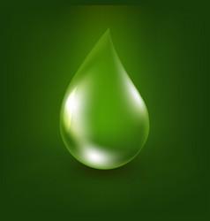 Aloe vera drop vector