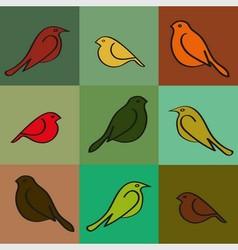 Autumn bird vector