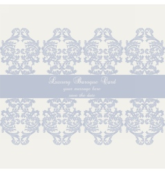 Baroque Vintage Damask card vector