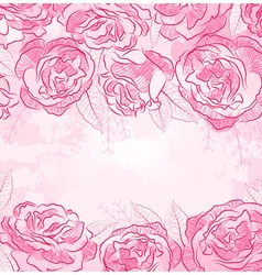 Beautiful Pink Rose Design vector image