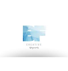 Bf b f blue polygonal alphabet letter logo icon vector