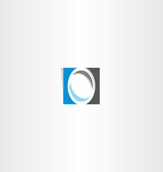 blue black letter o logo sign vector image
