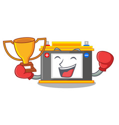 Boxing winner miniature accomulator in the a shape vector
