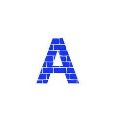 Brick logo letter a vector