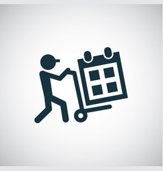 calendar delivery icon for web and ui on white vector image