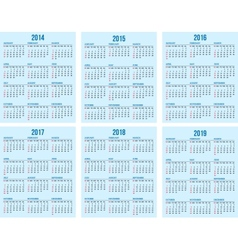 calendar grid vector image