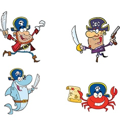 Cartoon pirates vector