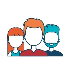 characters men and female social media vector image