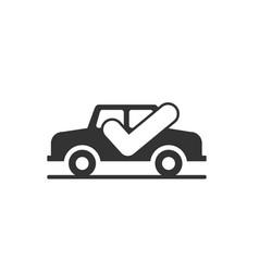 check car icon vector image