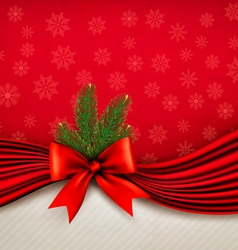 Chistmas holiday background with gift glossy bow vector